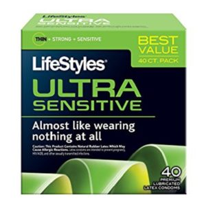 Ultra Sensitive Condoms LifeStyles 40 Pack